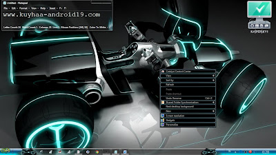 TRON LEGACY THEME WIDOWS 7