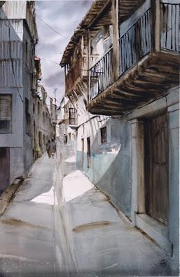 Tercer premio VII Concurso Pintura Rápida. Otoñada Valle del Jerte.