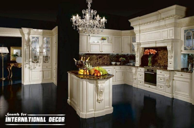 best designs of luxury kitchens in classic style international decoration. Black Bedroom Furniture Sets. Home Design Ideas
