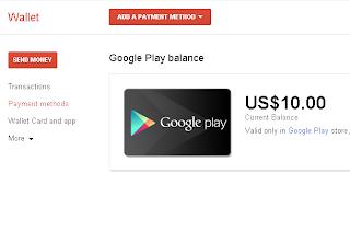 Cek Saldo Google Wallet
