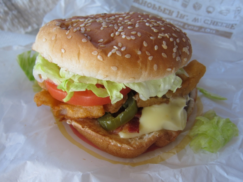 Review  Burger King - Angry Whopper Jr Whopper Jr