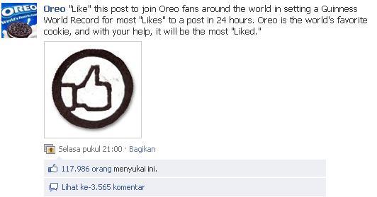 Status Facebook dengan Like Terbanyak