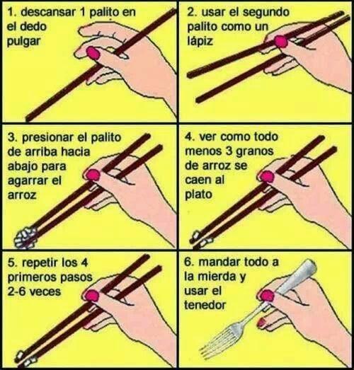 6 pasos para usar los palillos chinos