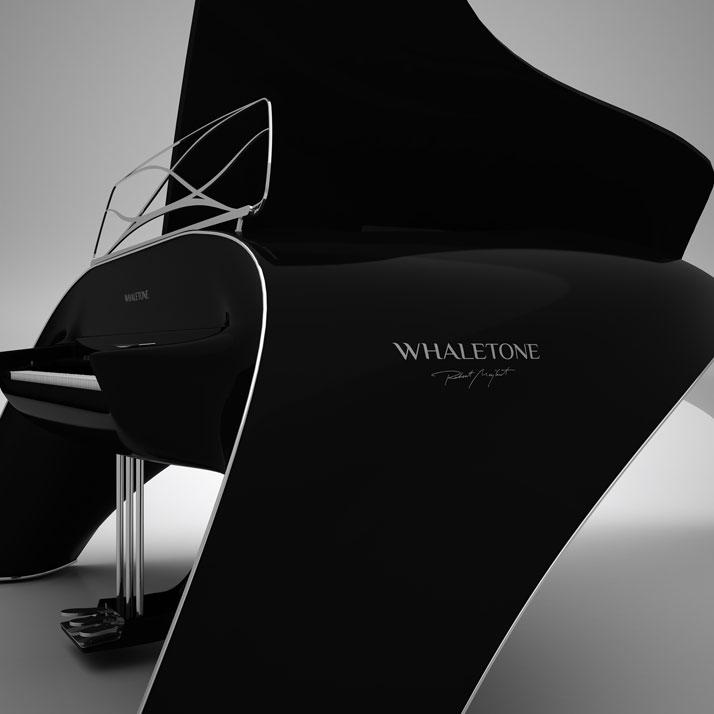 The whaletone piano by robert majkut modernistic design for Piani domestici contempory