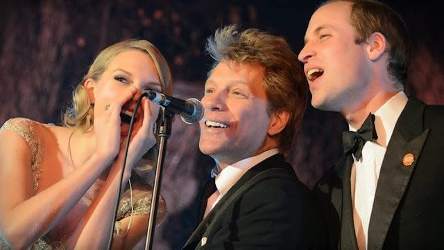 Pangeran William bernyanyi Dengan Taylor Swift dan Bon Jovi