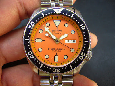 BAKUL JAM: FOR SALE : RARE SEIKO ORANGE DIVER CAL 7S26