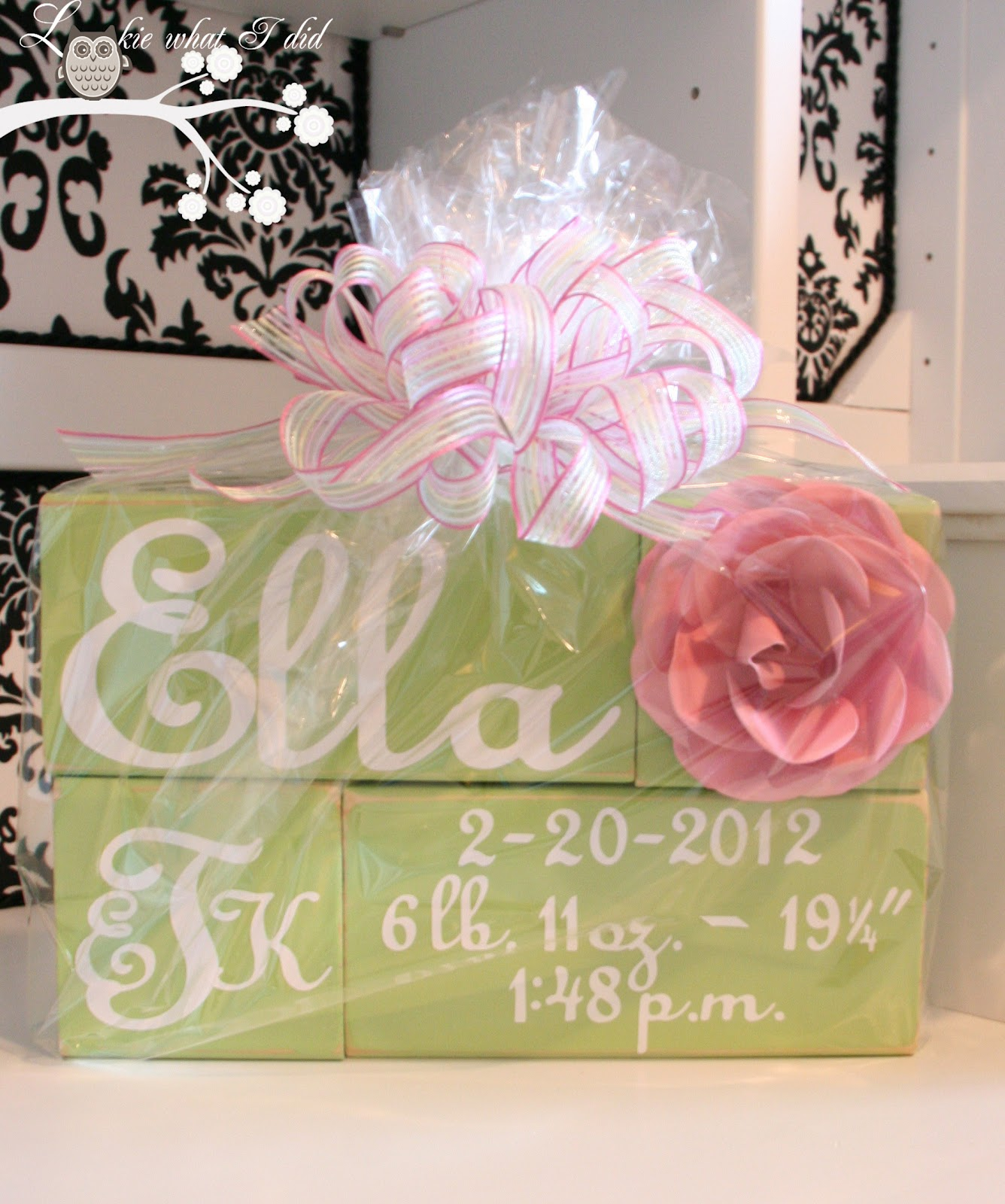 Baby Gift Name Blocks : Lookie what i did personalized baby blocks a gift
