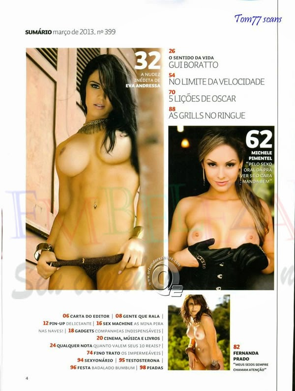 A musa Fitness Eva Andressa nua, mostrando a buceta na revista sexy