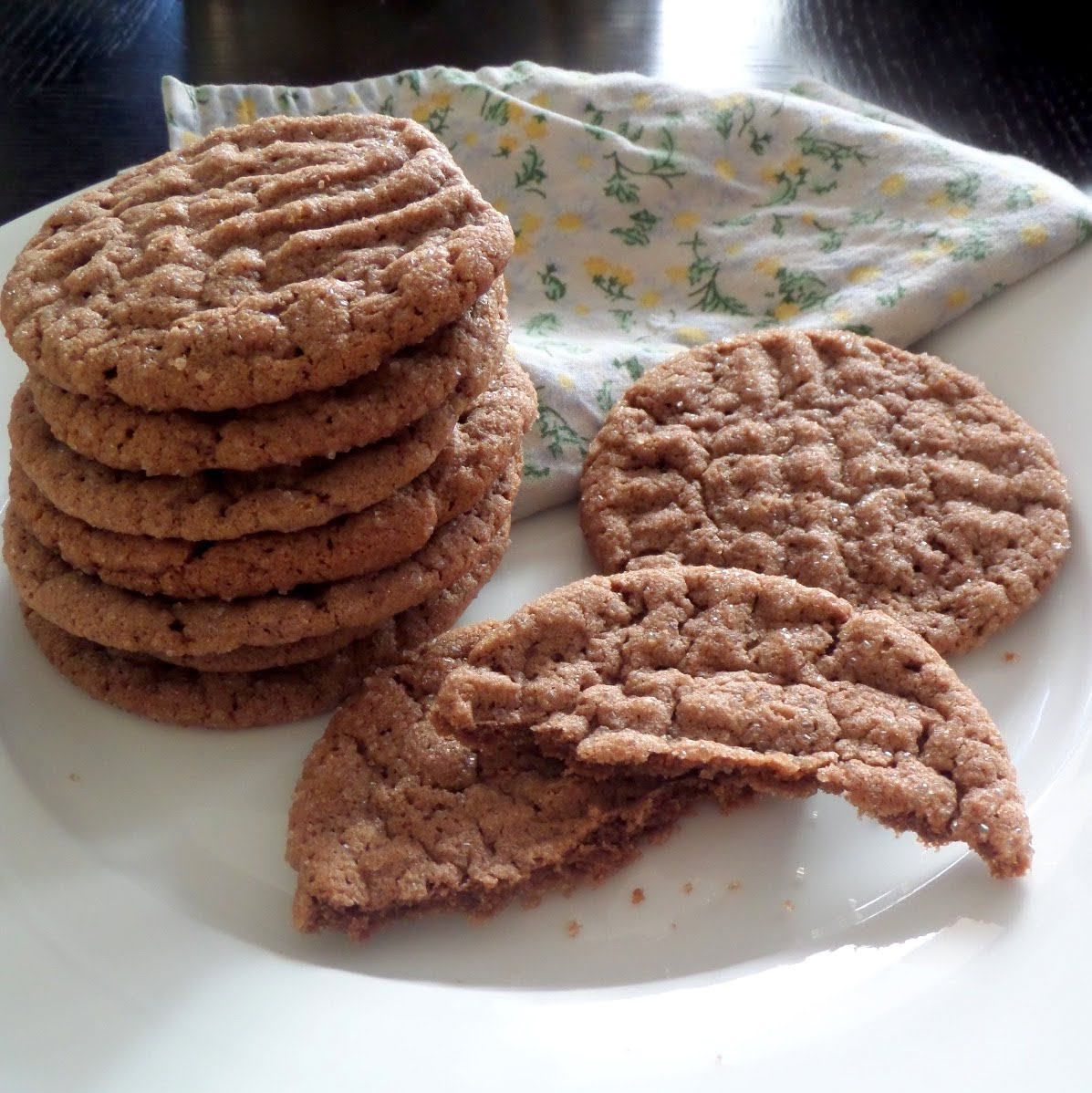 Nutella Cookies:  A traditional peanut butter cookie made non traditional by using Nutella instead of peanut butter.