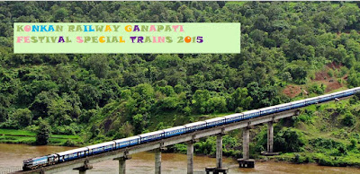 216 Special Trains by Konkan Railway