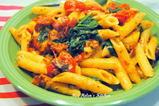 Bacon and Greens Pasta  from Miz Helen's Country Cottage