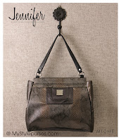 Miche Bag Jennifer Classic Shell, Snakeskin Purse