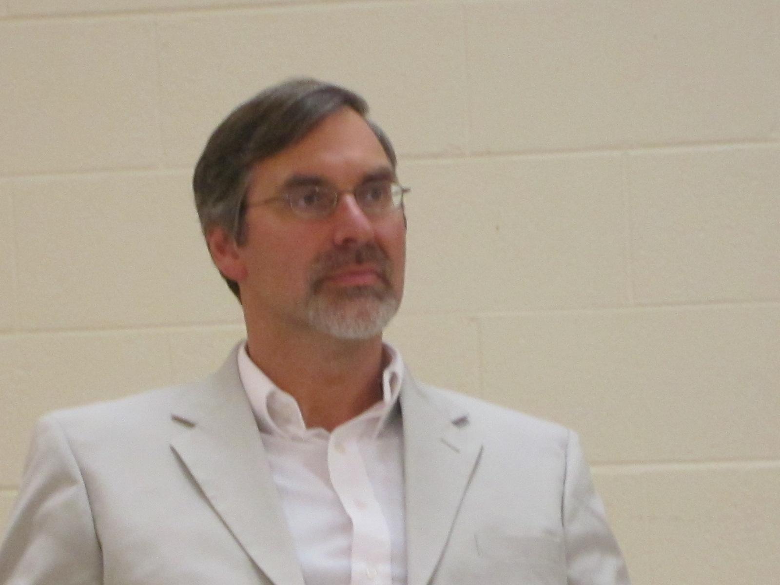 city attorney joe reitman with a distinguished goatee