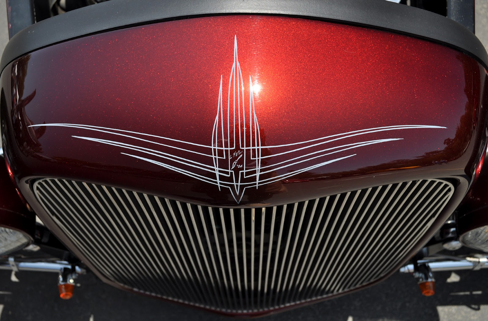 Just A Car Guy Cool Pinstriping From The La Roadster Show Wiring Diagrams Of 1964 Plymouth 6 And V8 Savoy Belvedere Fury Part 2