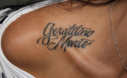 Tattoos on collar bone for girls she9 for girls fshion for Collar bone tattoos girl