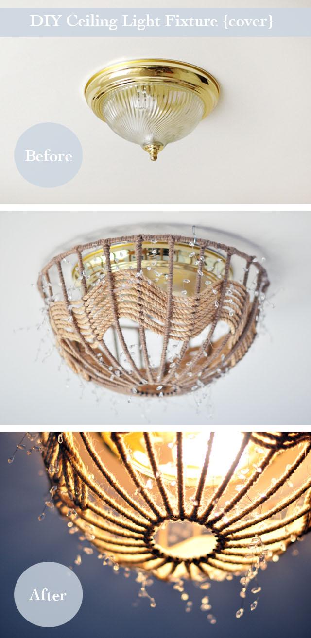 Светильник на потолок мастер класс