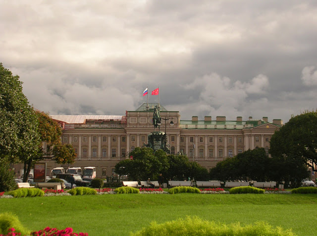 Памятник императору Николаю I, Мариинский дворец, Санкт-Петербург, Исаакиевская площадь