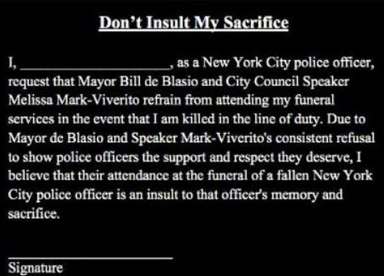 Racist NYPD union petition