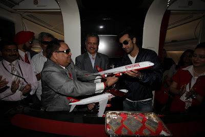 Kingfisher Airbus A340-500 model to Ranbir Kapoor Bollywood actor
