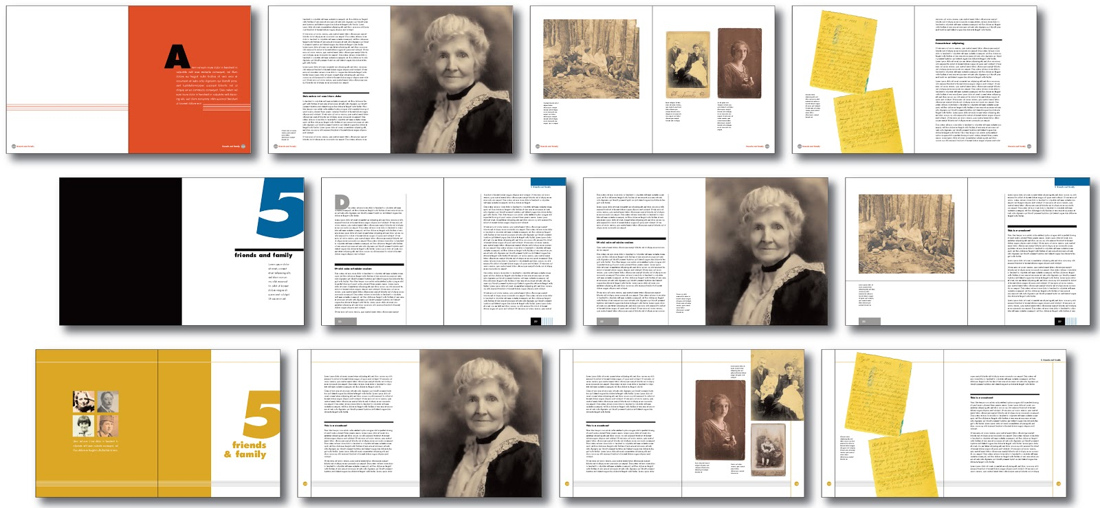Jane designed this for Ancestry book templates