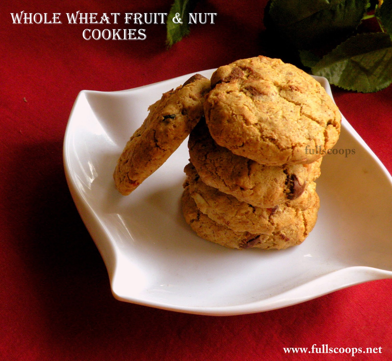 Whole Wheat Fruit and Nut Cookies ~ Full Scoops
