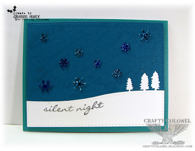 Crafty Colonel Donna Nuce for CASE-ing Christmas Challenge Blog, Stampin'Up Jingle All the Way and Sleigh Ride Edgelits, Christmas Card