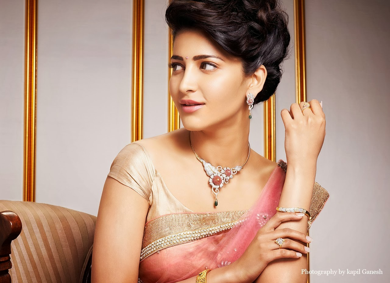 Shruti Haasan Jewellery Ad Photo Shoot