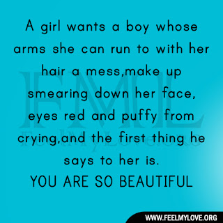 A girl wants a boy whose arms she can run