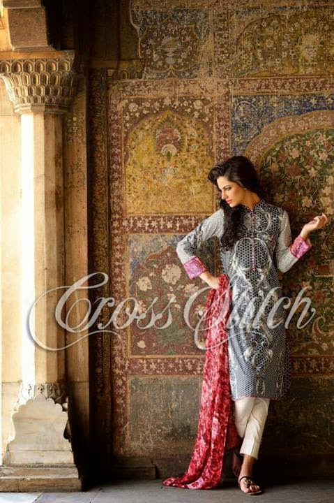 Cross Stitch Lawn Collection 2014 featuring Cybil J Chowdhry