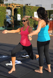 Celebrity Stacy Keibler with her Fitness Trainer