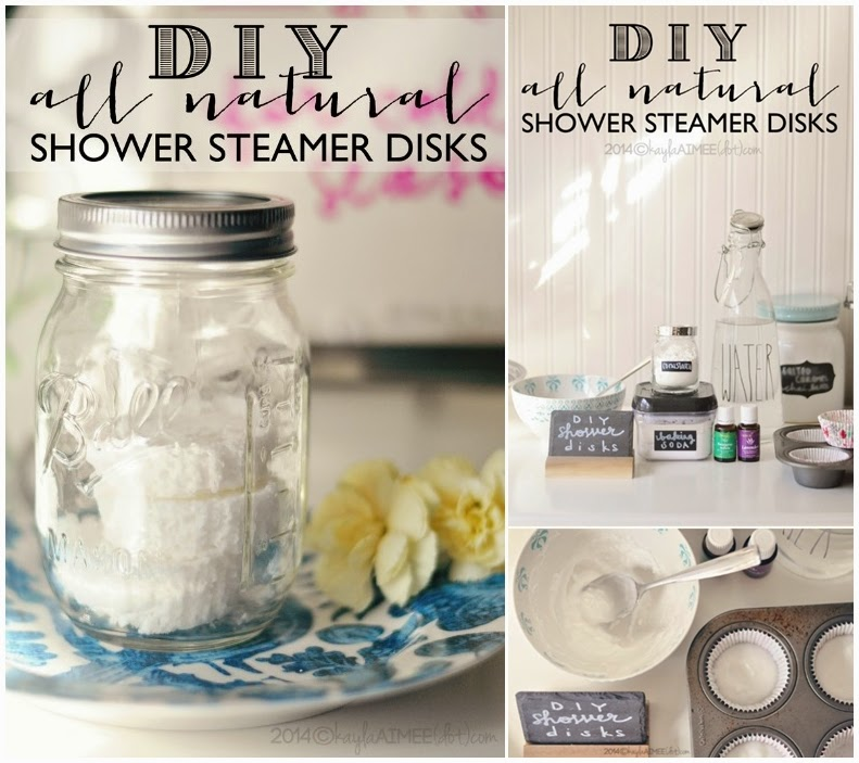 DIY All Natural Shower Steamer Disks