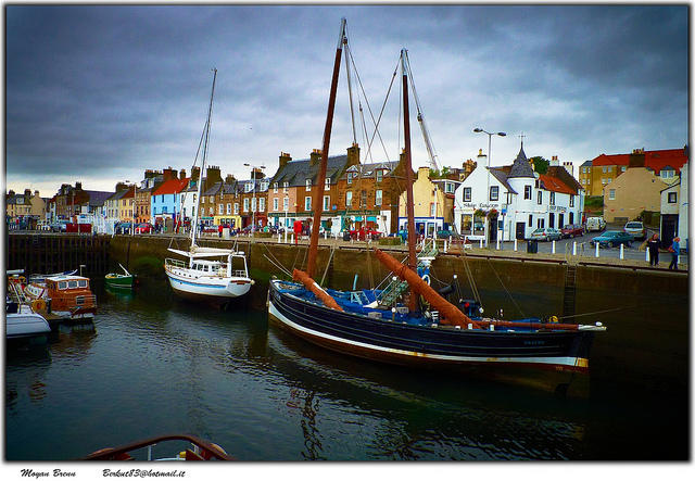 Scotland, Neuk of Fife harbour