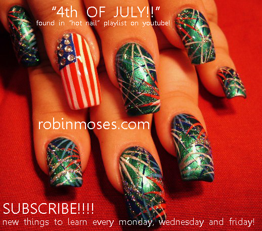4th Of July Nail Art Design Tutorial Juicy Watermelon Nail Art