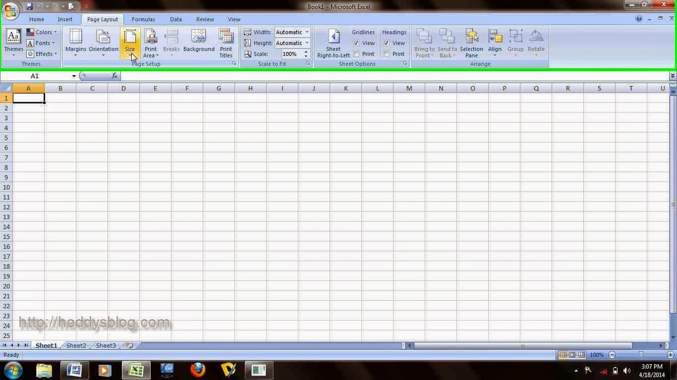 Cara Jitu Mengatur Ukuran Kertas F4 Microsoft Excel