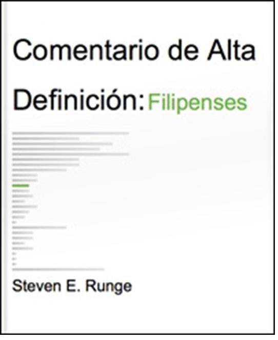 Steven E. Runge-Comentario De Alta Definición:Filipenses-