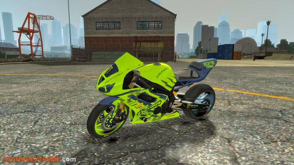 Download moto Triumph 675R Turbo de Drift Para GTA IV