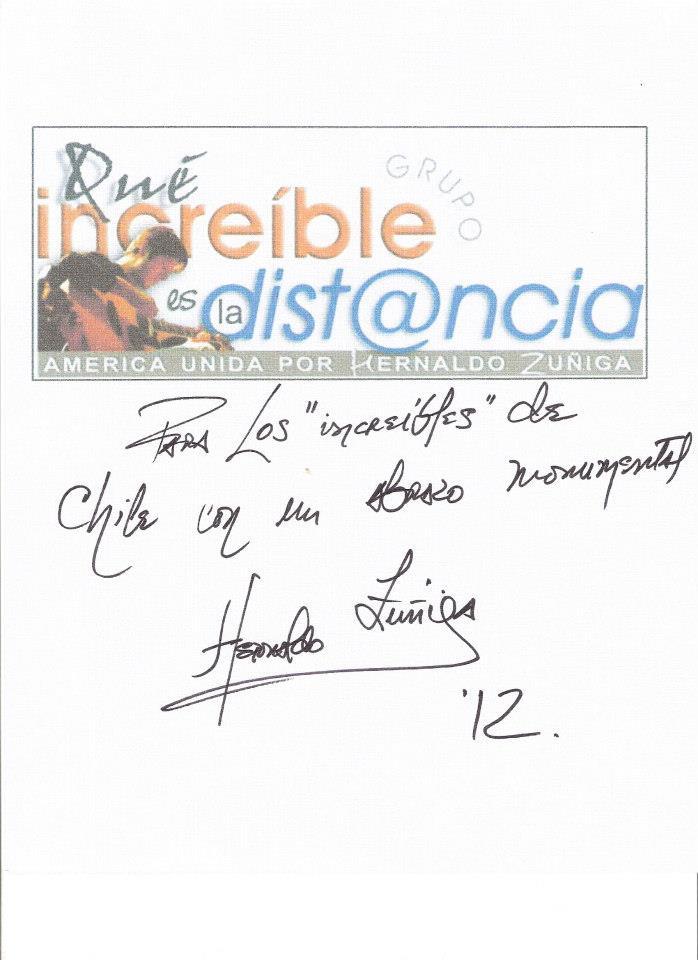 Autógrafo en Chile 19-10-12