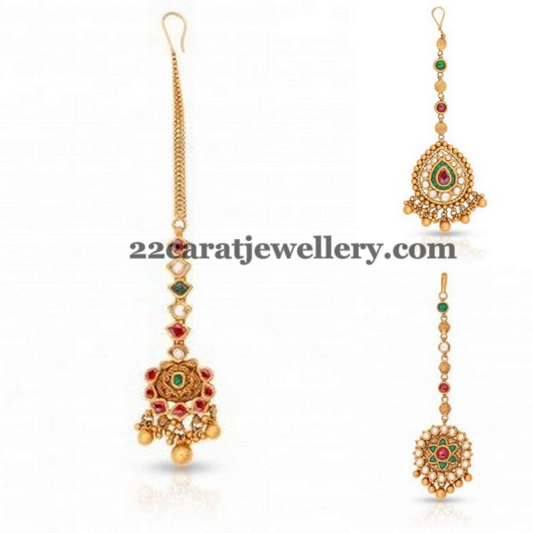 Maang Tikka Design in Gold