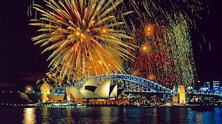 Fuegos artificiales en Sidney Fotografias de ciudades del mundo