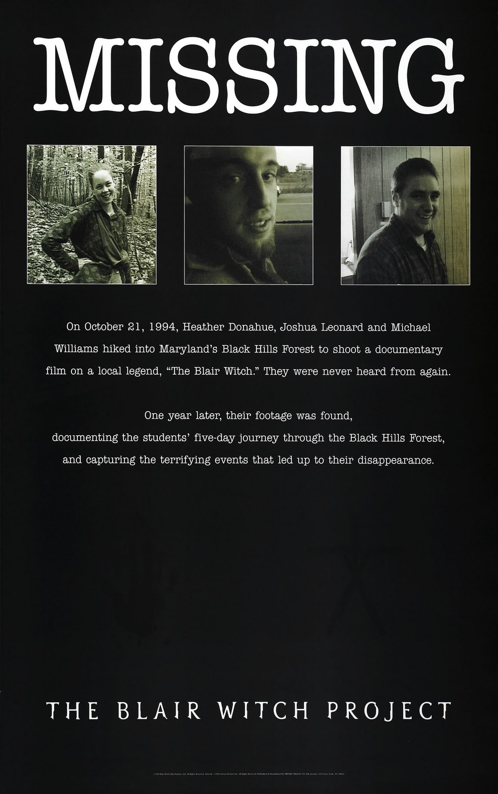 the blair witch project ending Much talked-about upon its release, the blair witch project debuted at the   leading to one disappearance and an abrupt ending that suggests.