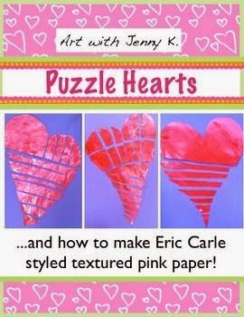 https://www.teacherspayteachers.com/Product/Valentines-Day-Craftivity-Eric-Carle-style-textured-puzzle-hearts-1095462