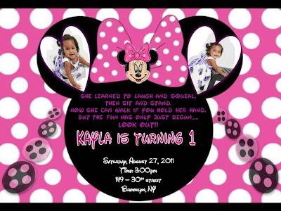 Minnie Mouse Birthday Invitation For Kayla