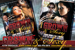 Grown And Sexy Old School Party Flyer Design