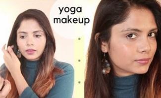 Tried Yoga Makeup   yoga makeup tutorial   Glowy Makeup