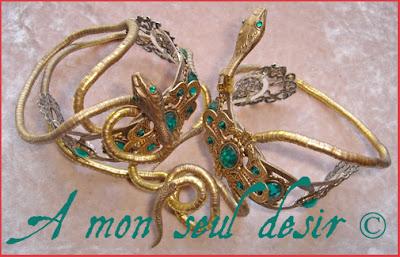 Bracelet Amonseuldesir Méduse Gorgone Serpent Peplum Snake Medusa