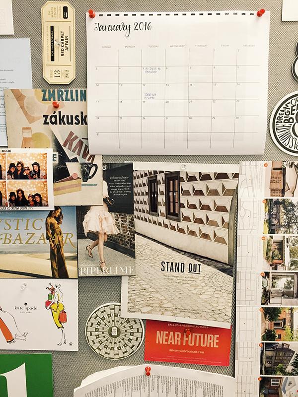 mai design studio, cubicle decor, office cube decor, 2016 calendar