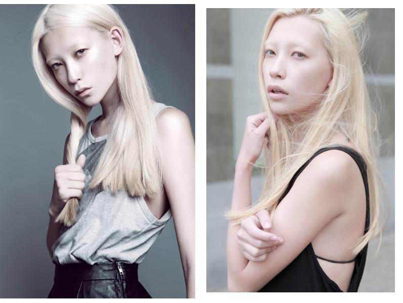 yana shmaylova, platinum blonde model