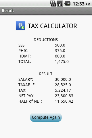 Philippine Salary and Taxes Calculator Application | Sidestrip ...