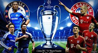 Hasil Skor Bayern Munchen vs Chelsea, Hasil Final Liga Champion, Hasil Skor Bayern Munchen vs Chelsea Final Liga Champion 2012