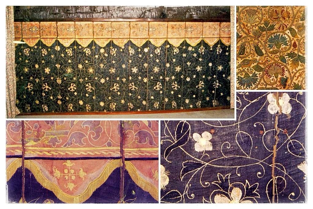 Original Elizabethan wall painting in Oxford